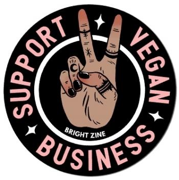 Support Vegan Business | Bright Zine | Circle