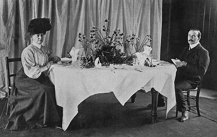 Eustace Miles' vegetarian restaurant, opened in 1906 and was a regular meeting space for suffragists.
