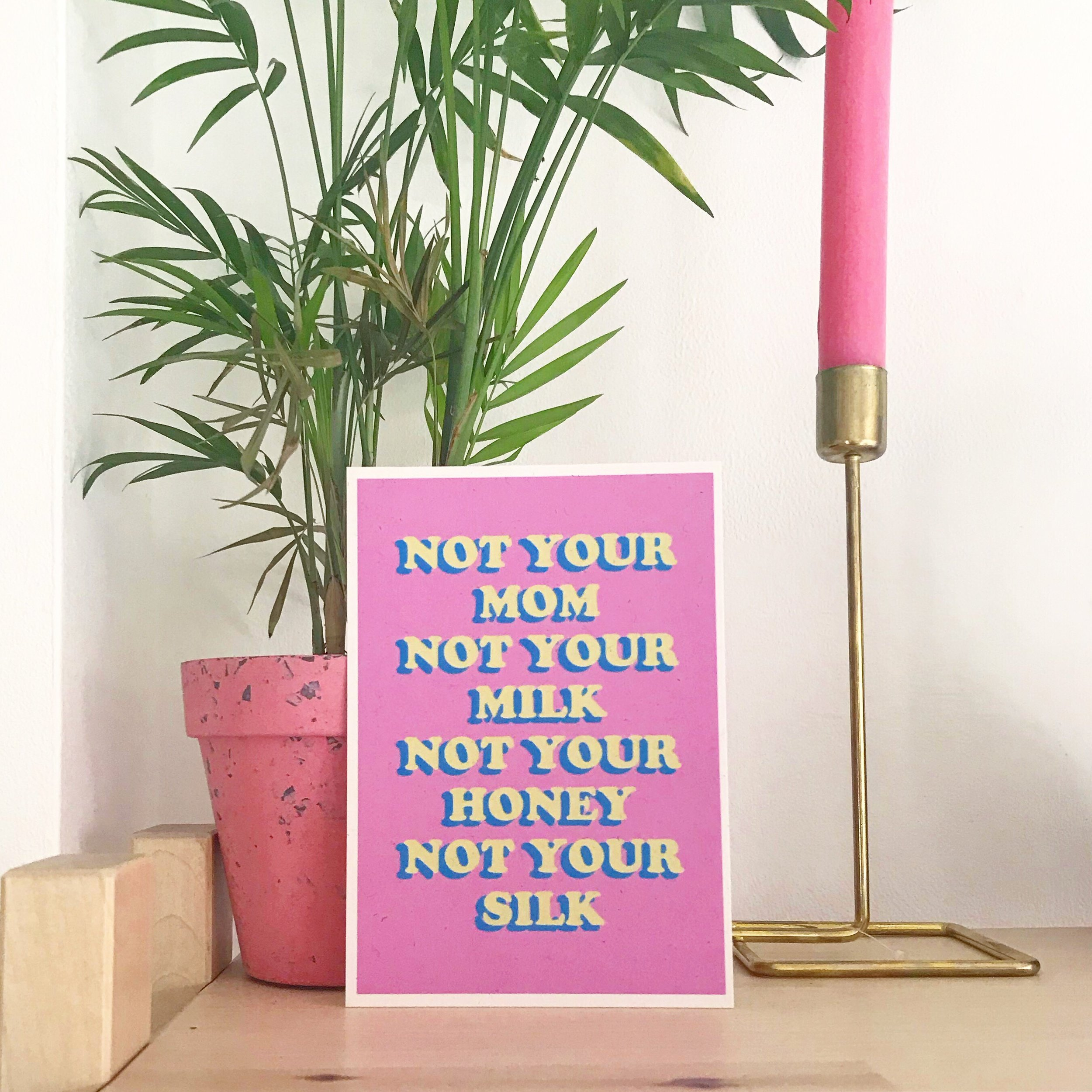 Punky Bunny - not your mom not your milk not your honey not your silk | Vegan Poster | Bright Zine.JPG