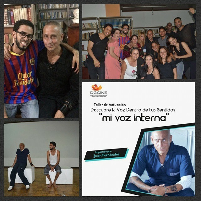 Photo collage of teaching in Santiago DR.