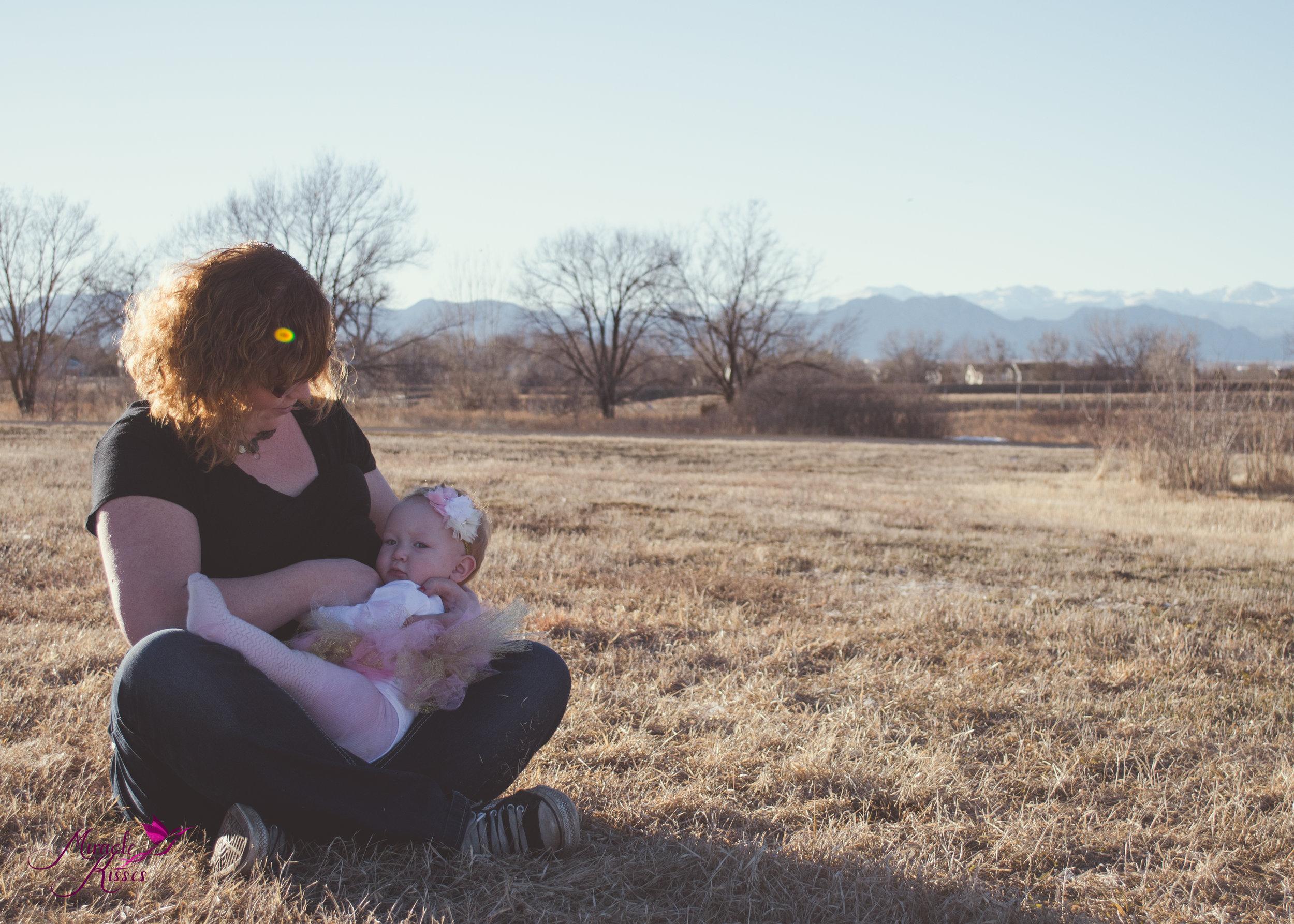breastfeeding outside, happy birthday, curious
