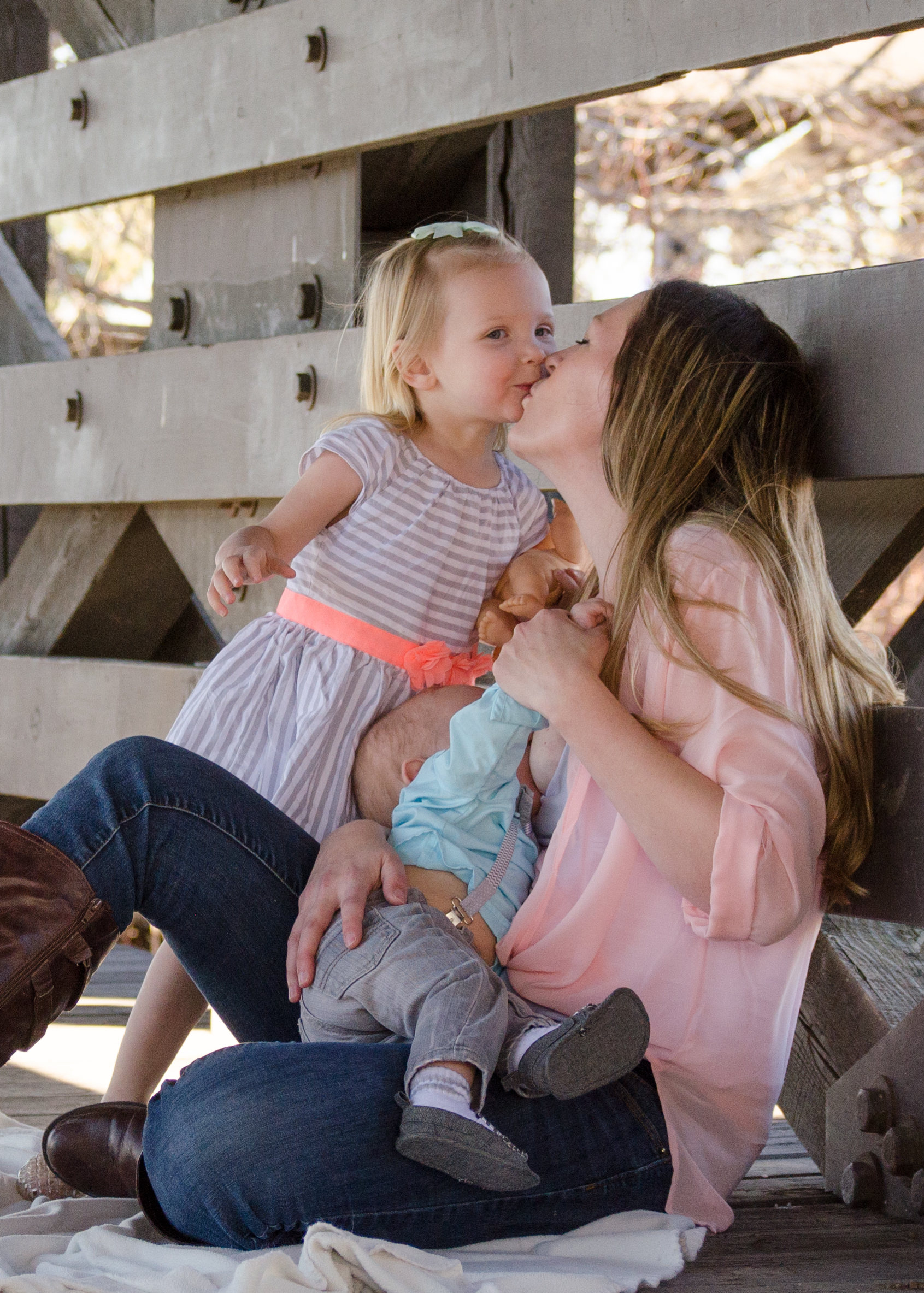 Mommy kisses, family love, beautiful mother