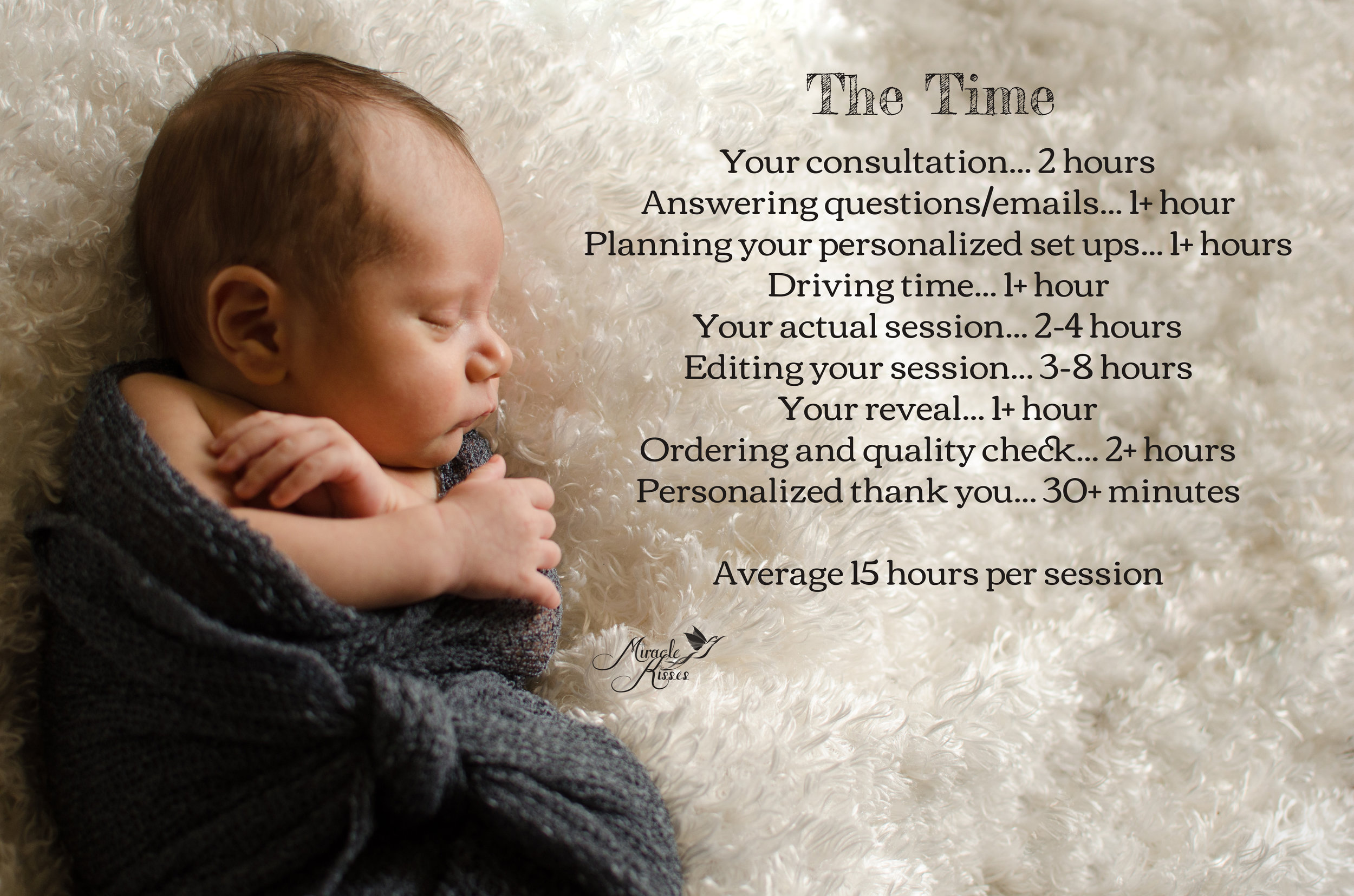 Time spent on a posed newborn photo session