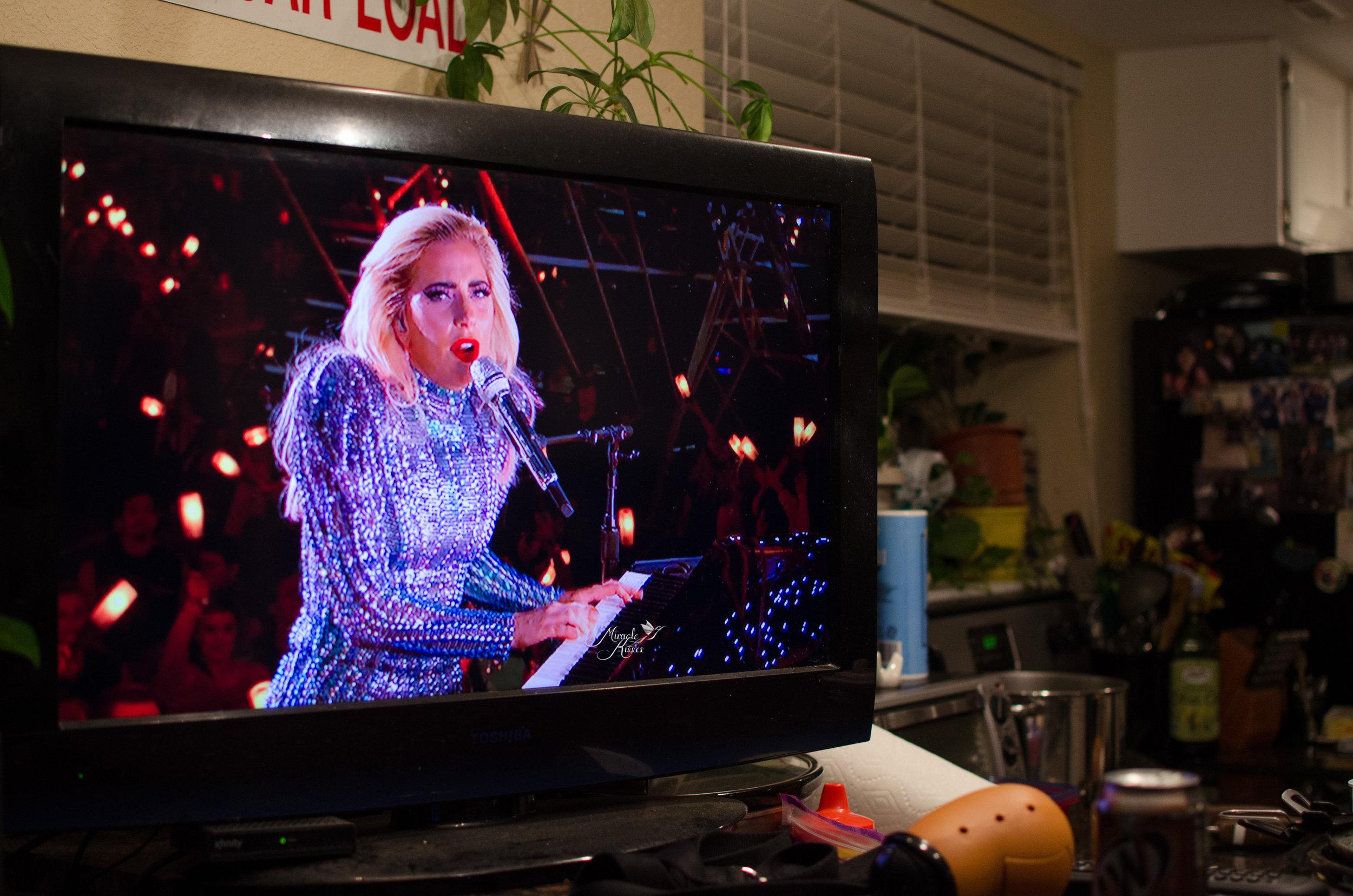 Halftime show, lady gaga, tv photo