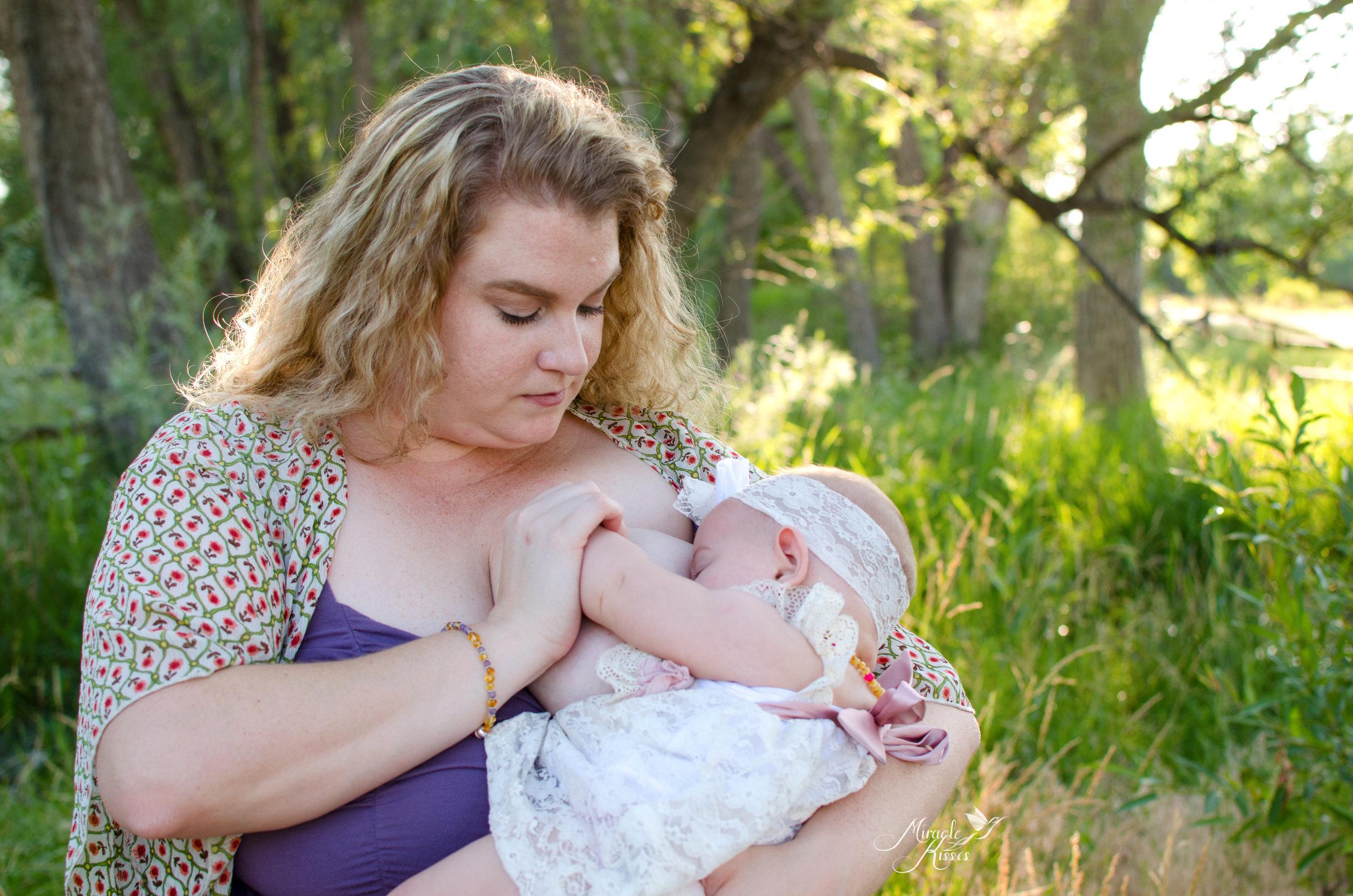 Outdoor breastfeeding in public, mothers love, nursing photography