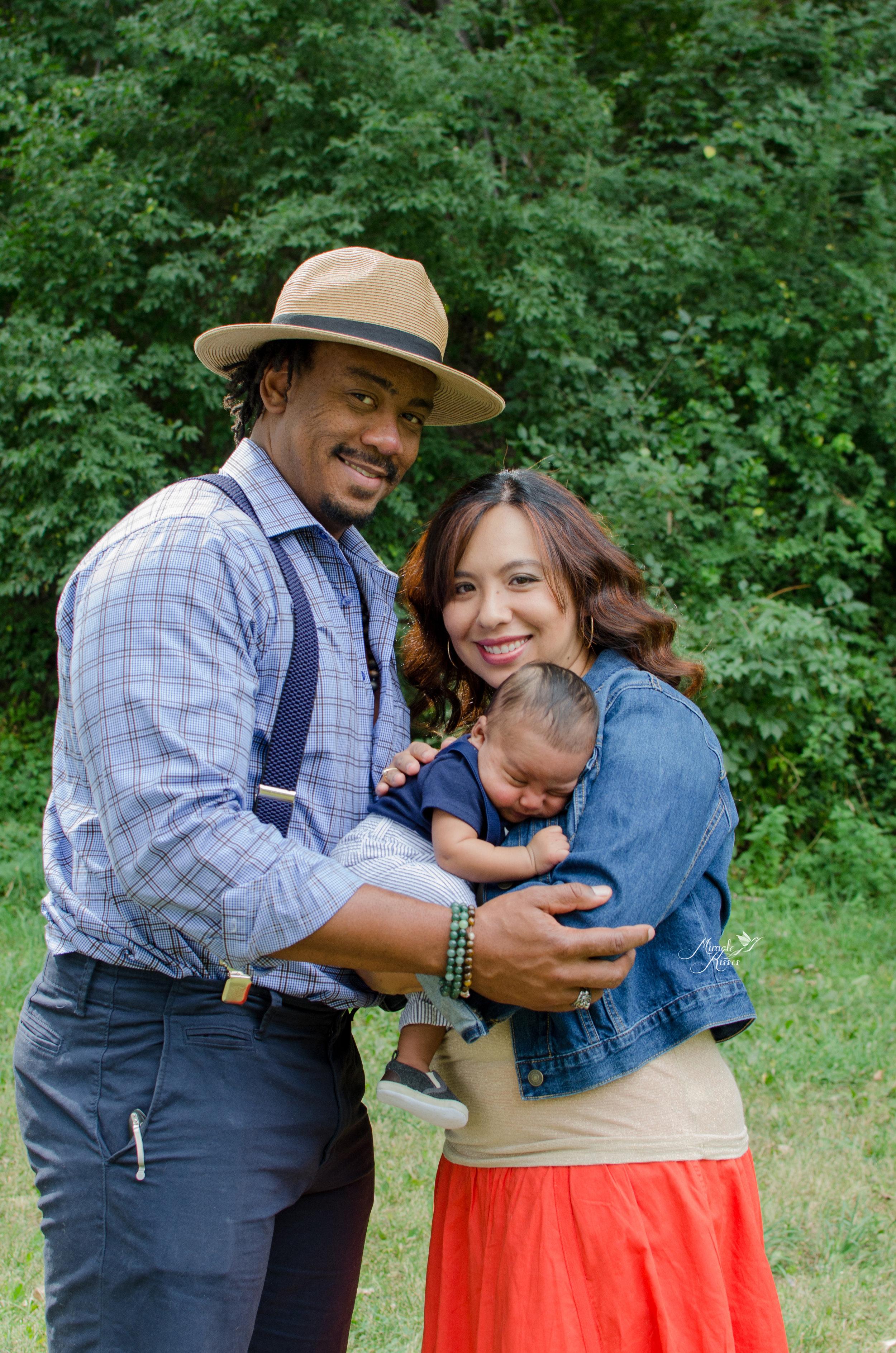Outdoor family photo, Arvada breastfeeding story, Happy posed family