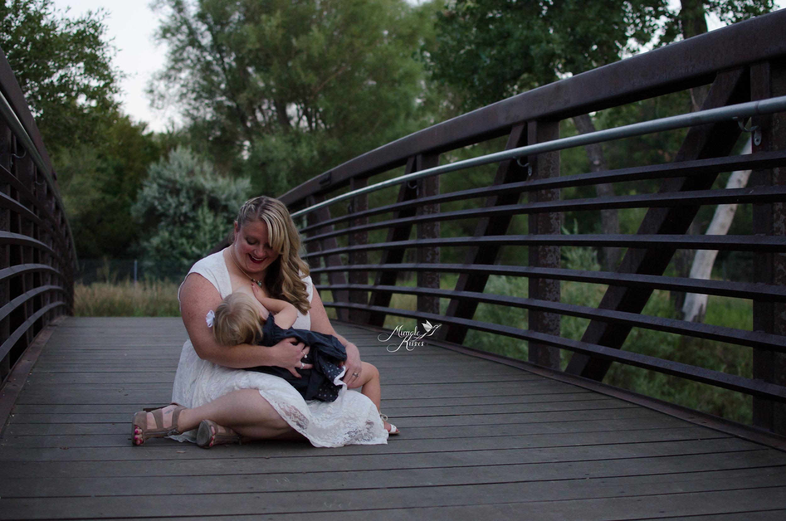 nurse on a bridge, mommy and me, moms love