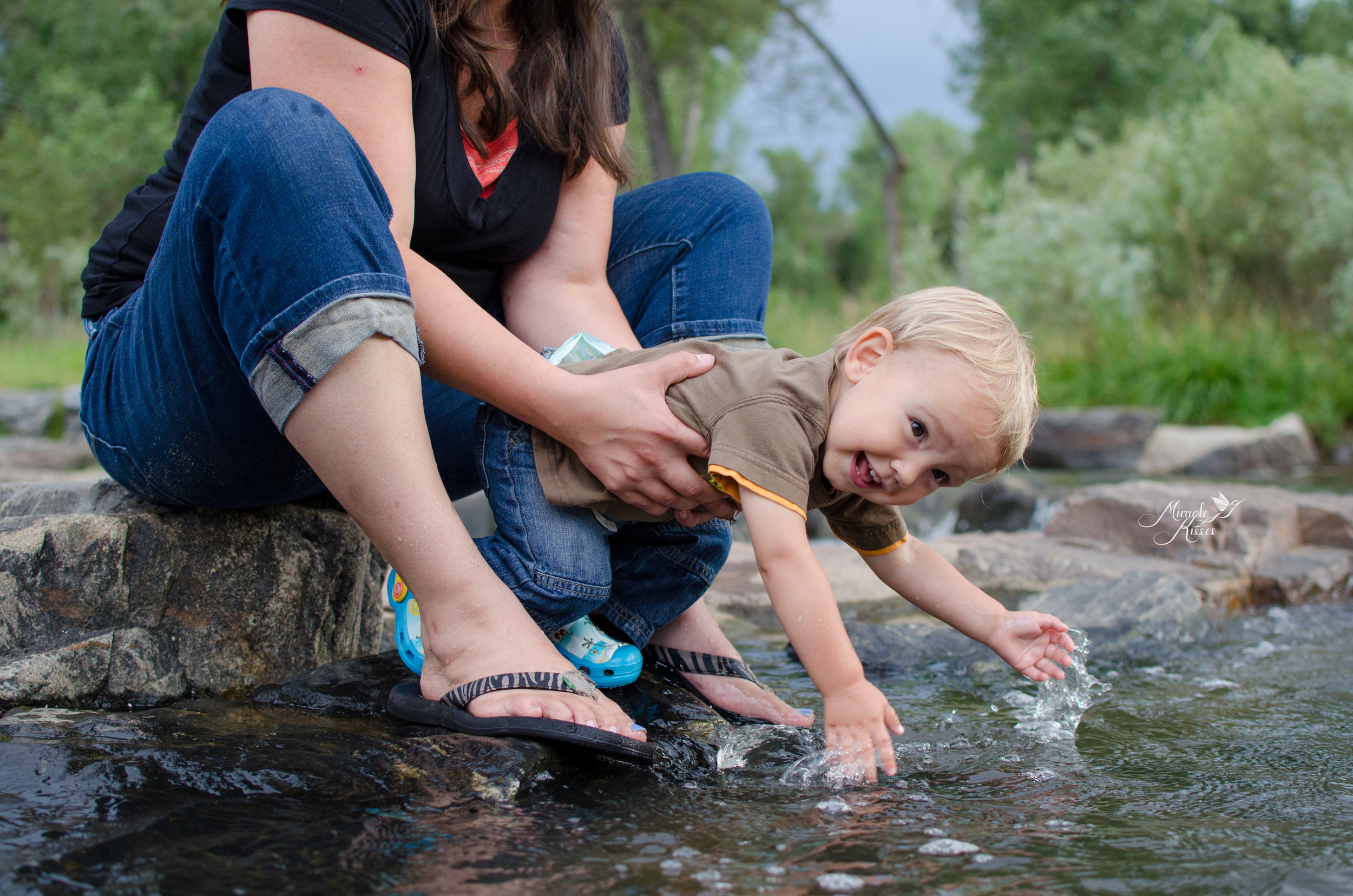 water fun, play in the creek, lifestyle photography