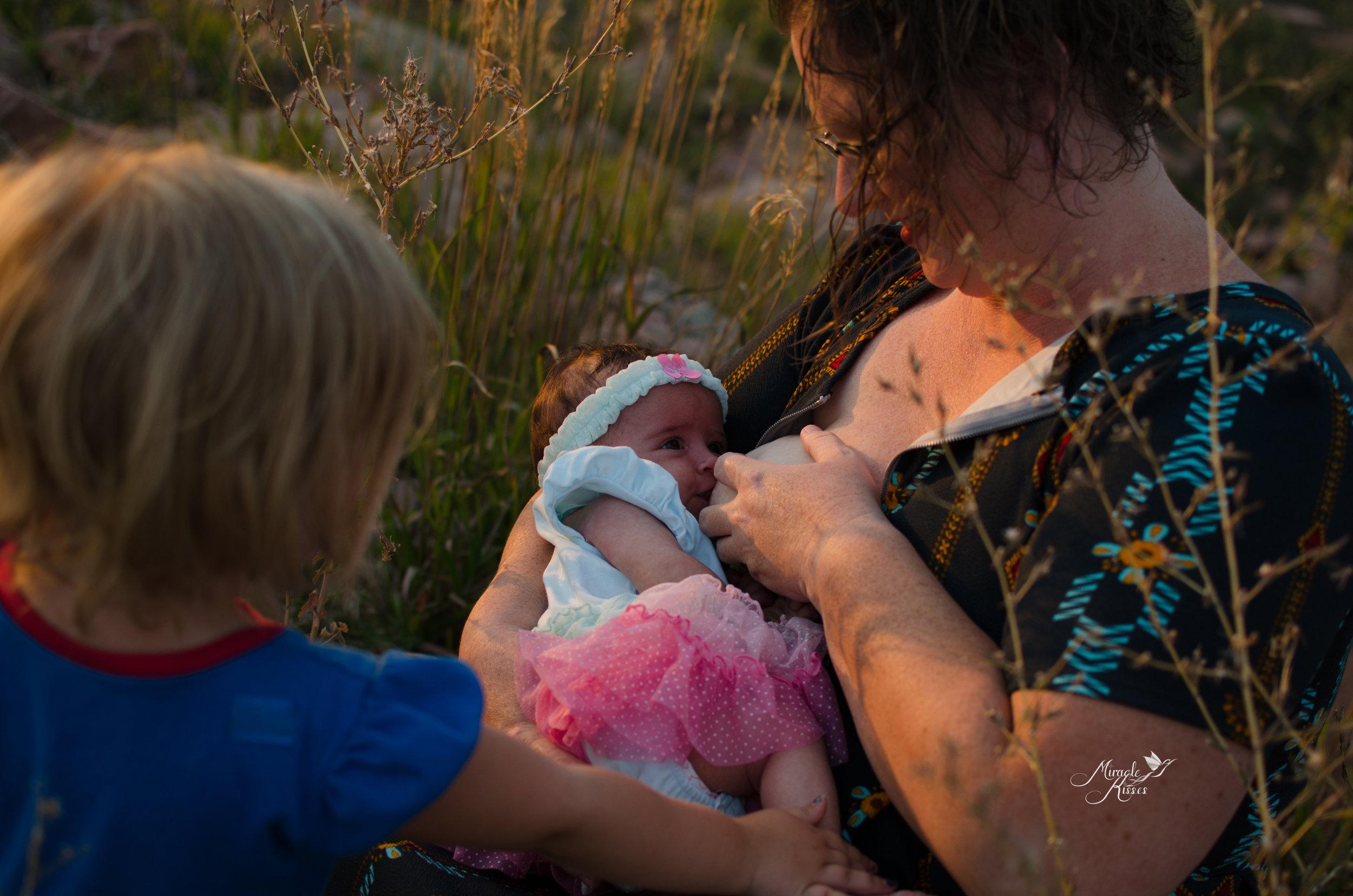 breastfeeding help, sibling love, all girls