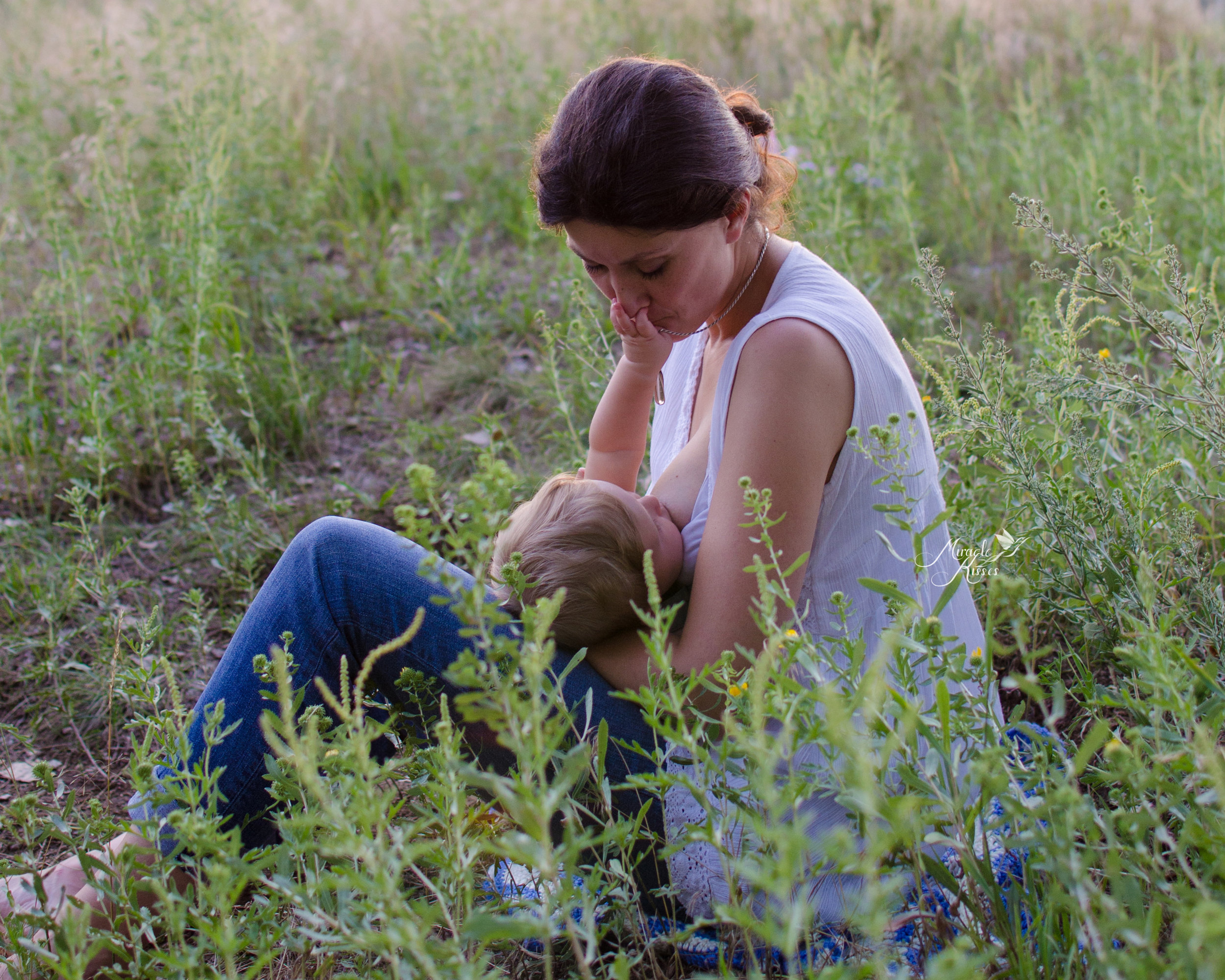 nursing acrobatics, extended breastfeeding, mommy and me in the grass