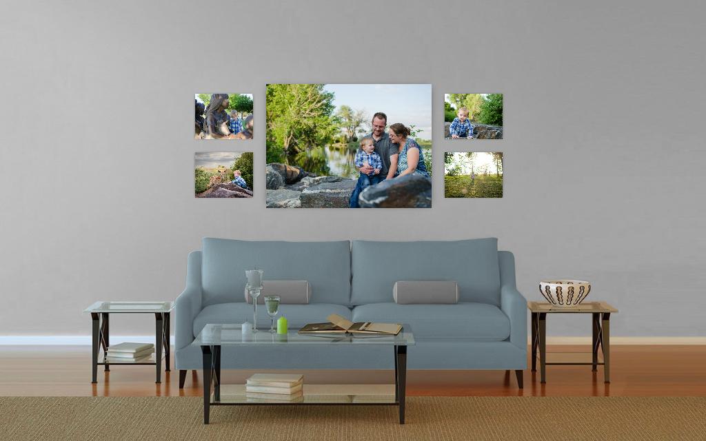 family wall gallery, wall art, colorado family photography