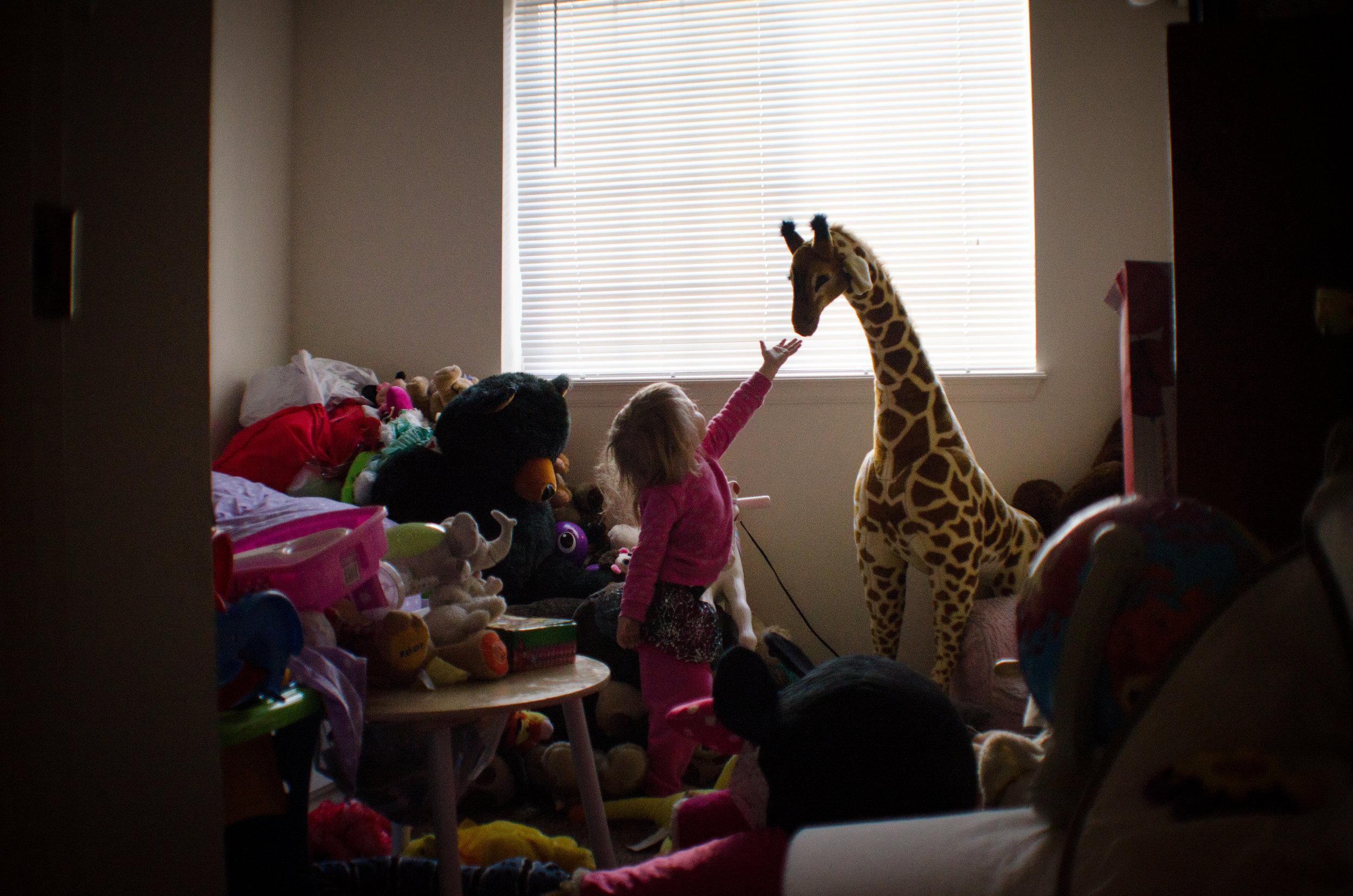 clutter home, true images, toddler room