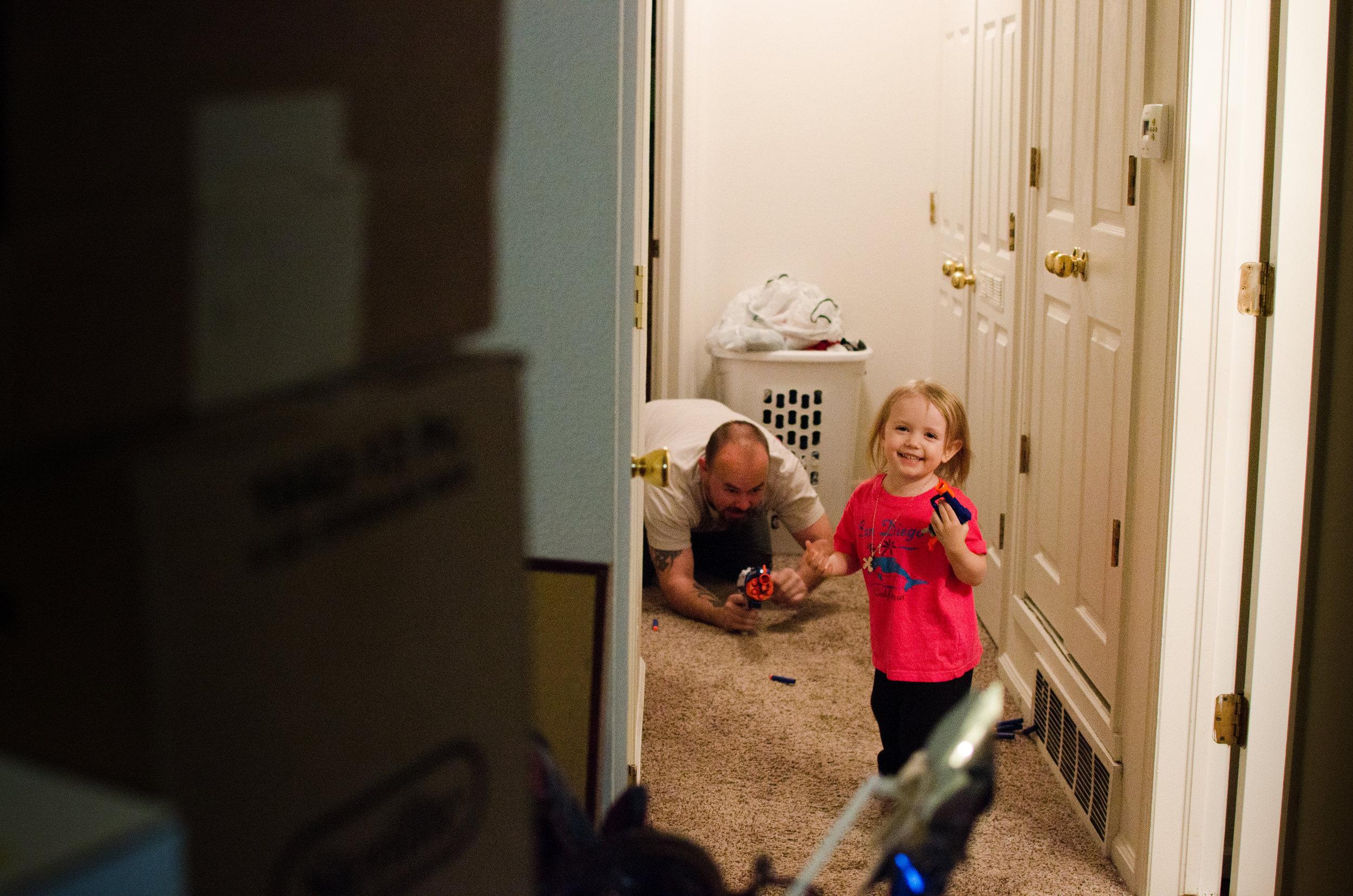 nerf gun fight, moving fun, love family colorado