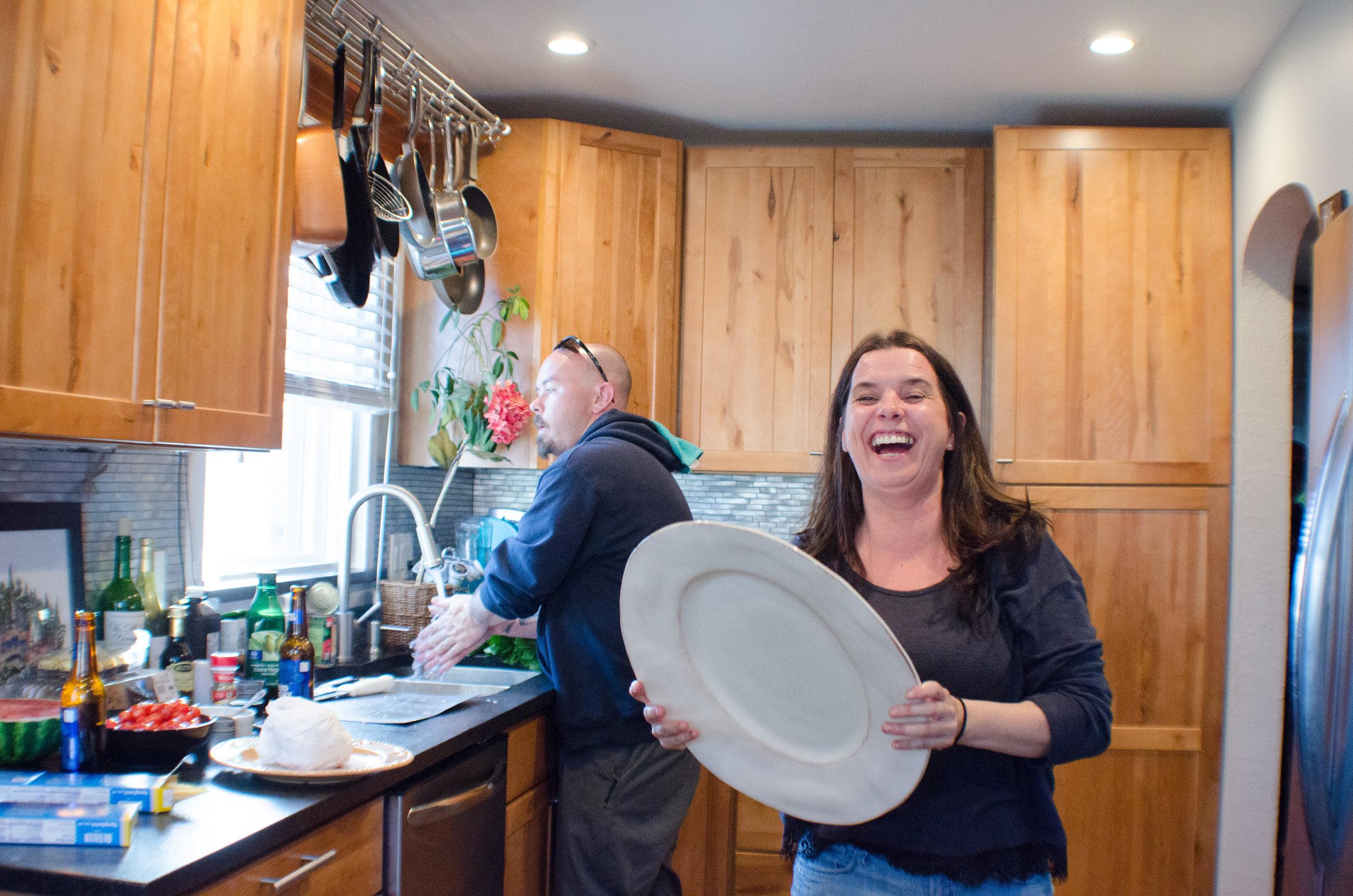 new kitchen, excitement, family love