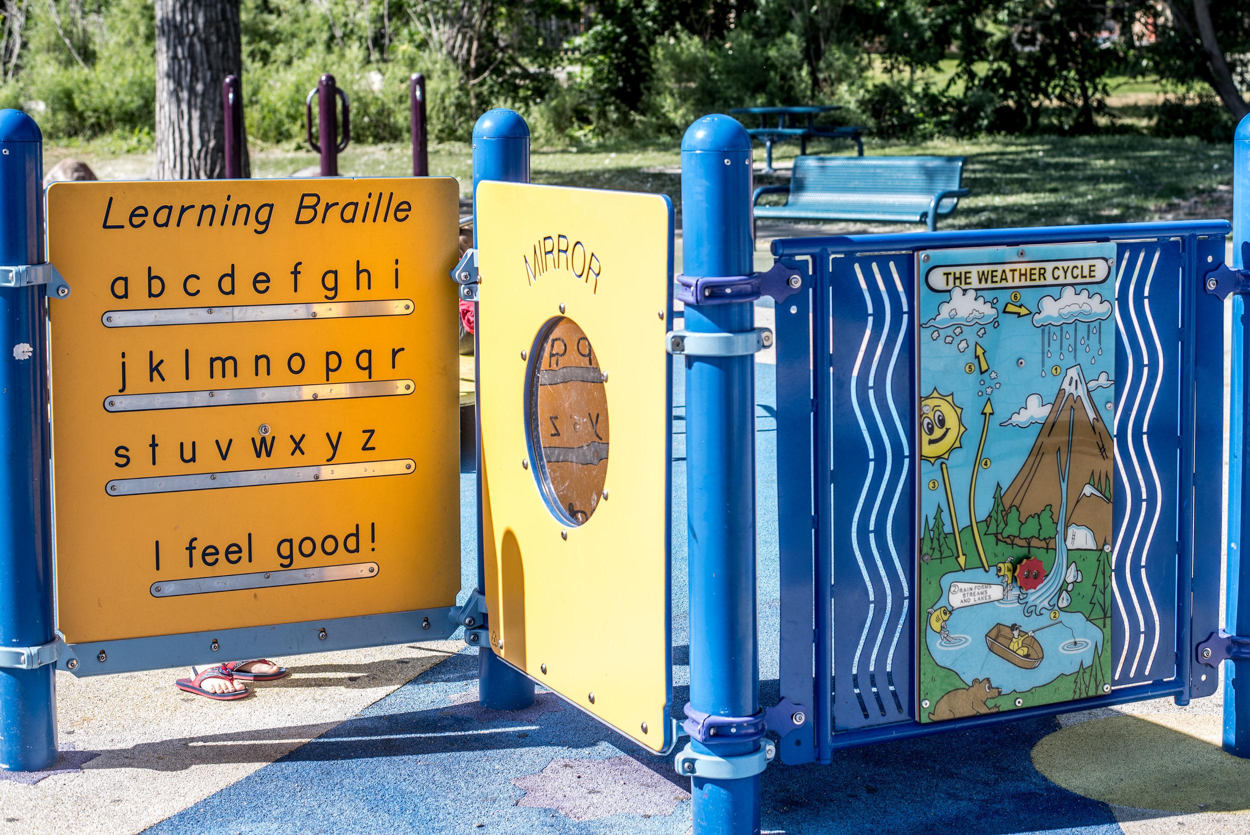 braille park, playground, colorado play time