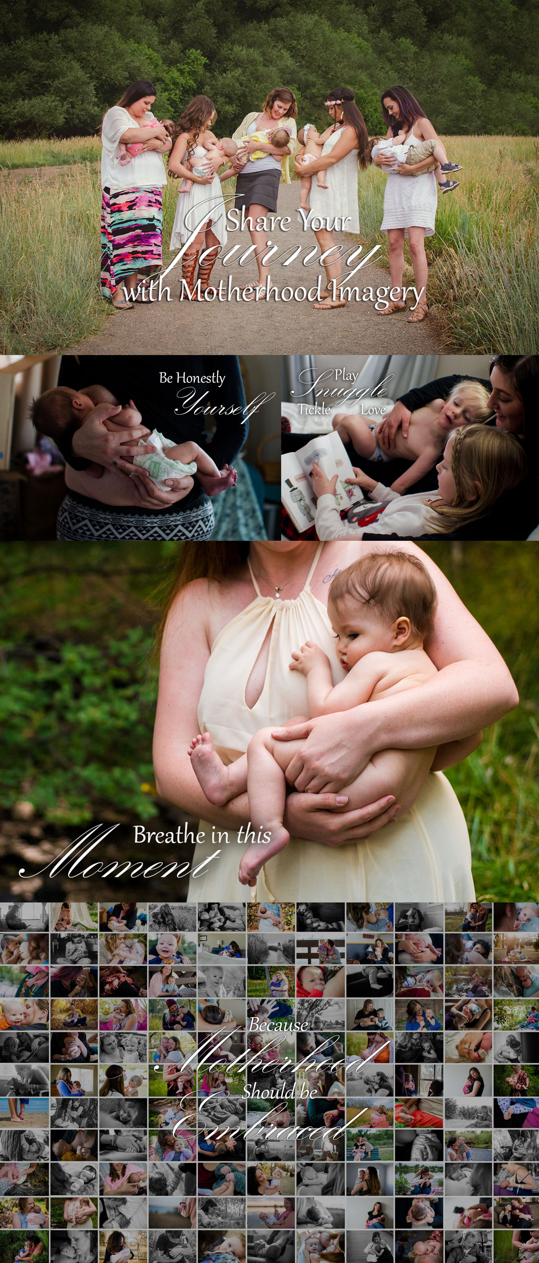 Denver motherhood and breastfeeding photographer collage