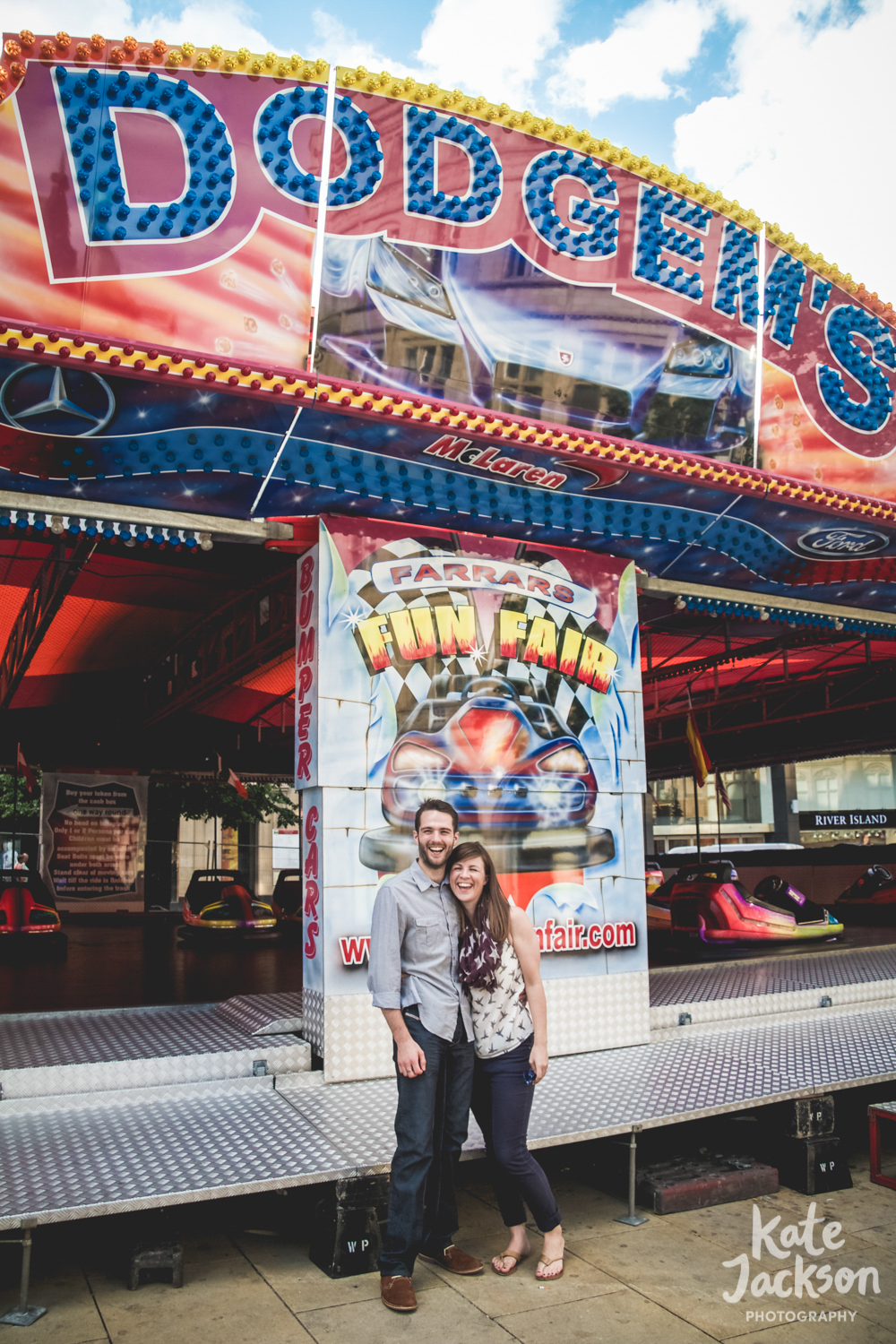 Fun fairground Wedding Photographer