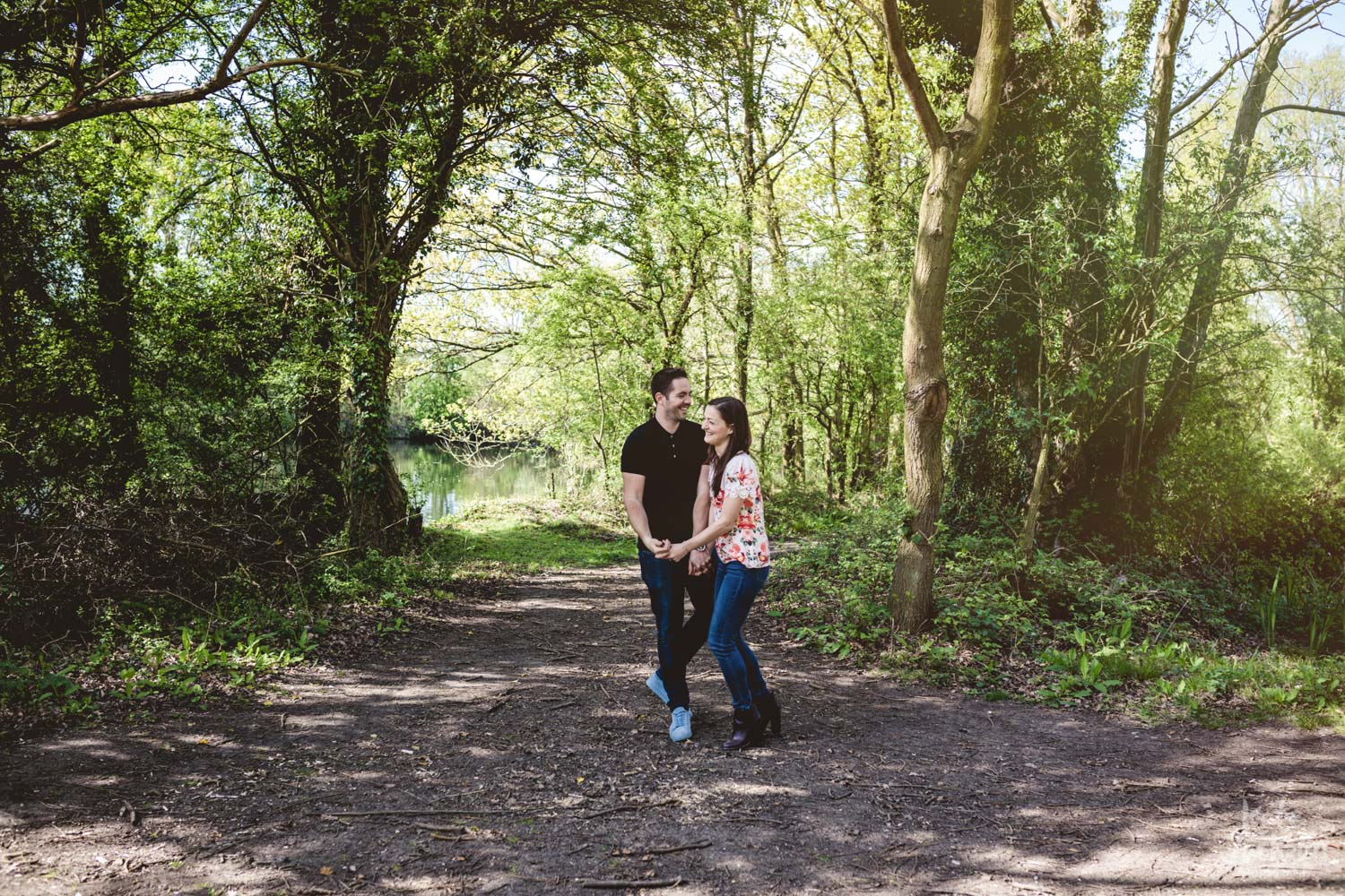 Rustic Pre Wedding Shoot in the Woods | Kate Jackson Photography