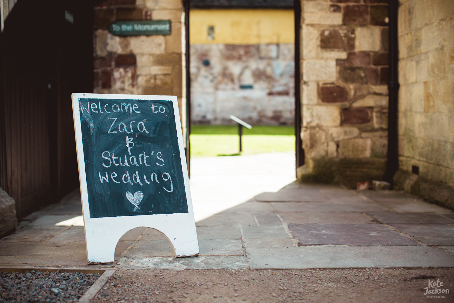 Wedding Chalkboard Sign - Blackfriars Priory Gloucester