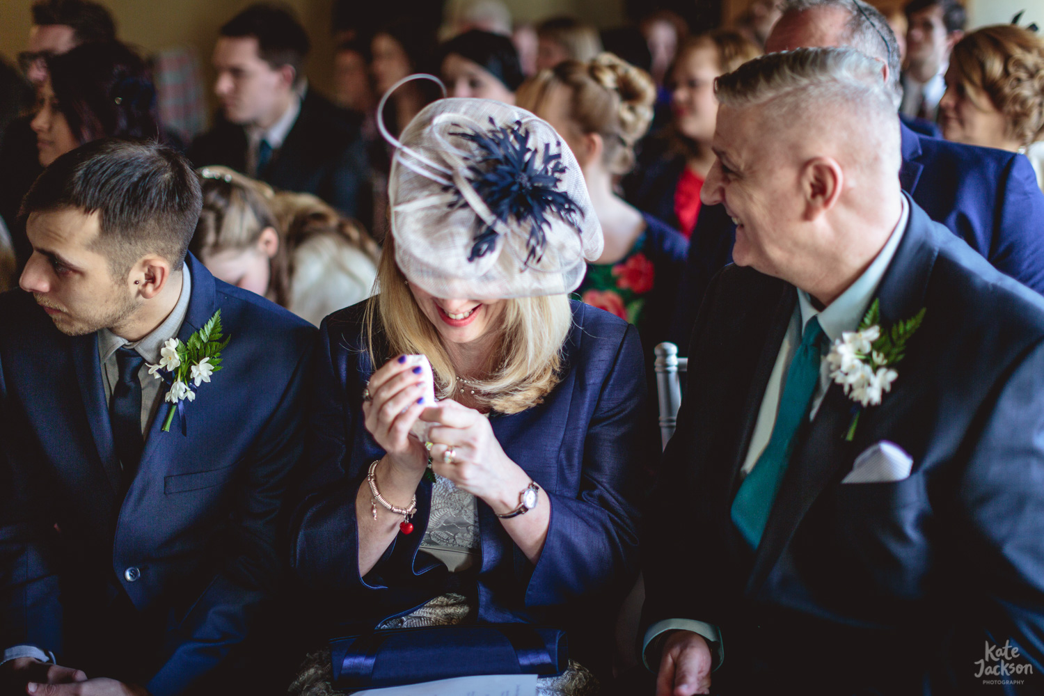Emotional Mum - quirky wedding at Blackfriars Priory Gloucester