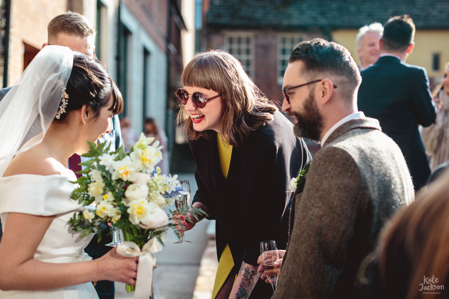Alternative wedding, natural candids at Blackfriars Priory Gloucester