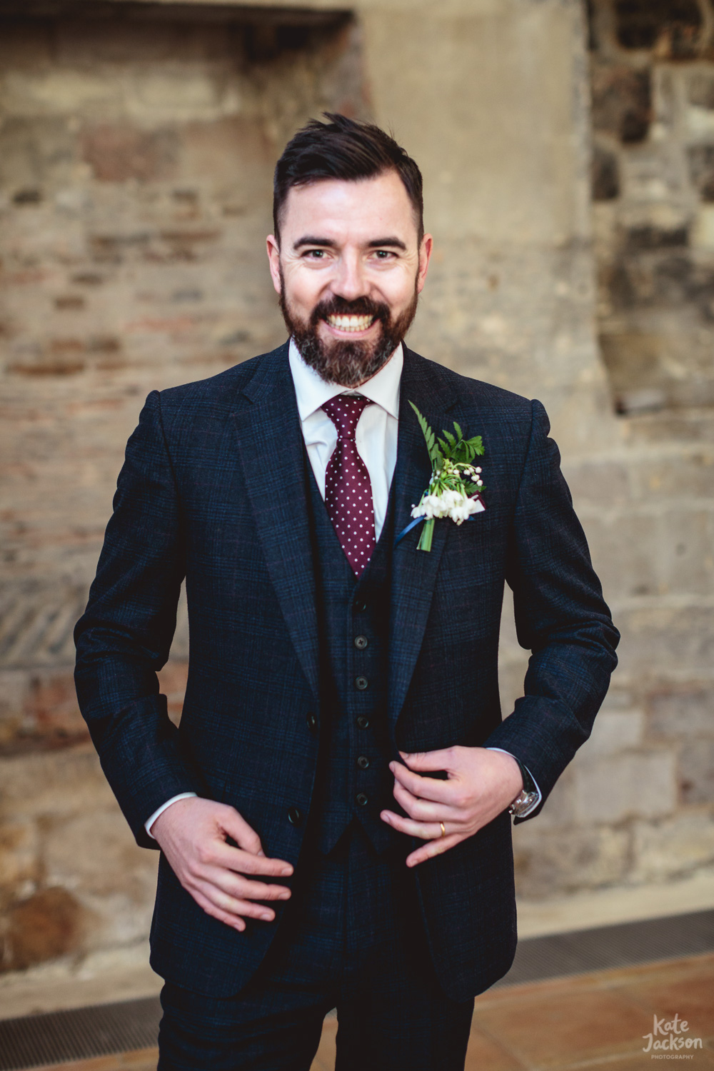 Super happy & fun Groom at Blackfriars Priory Gloucester