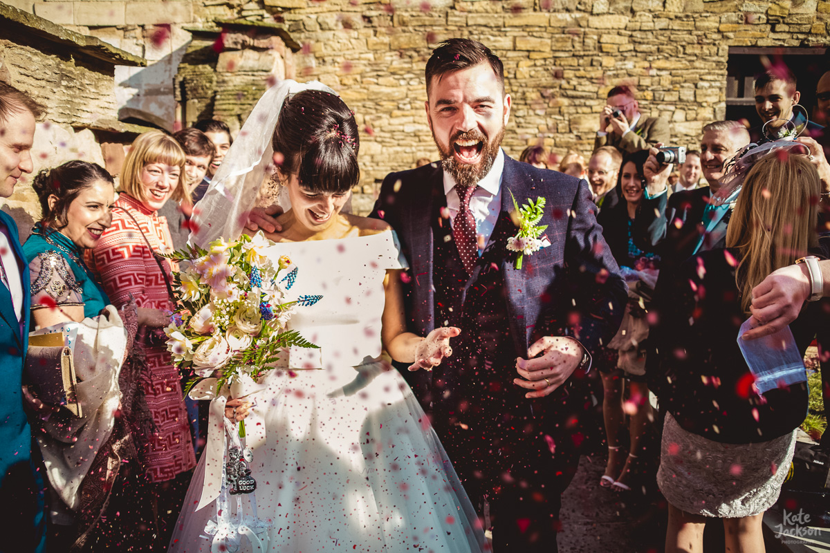 Super Fun Confetti Photo at Blackfriars Priory Gloucester
