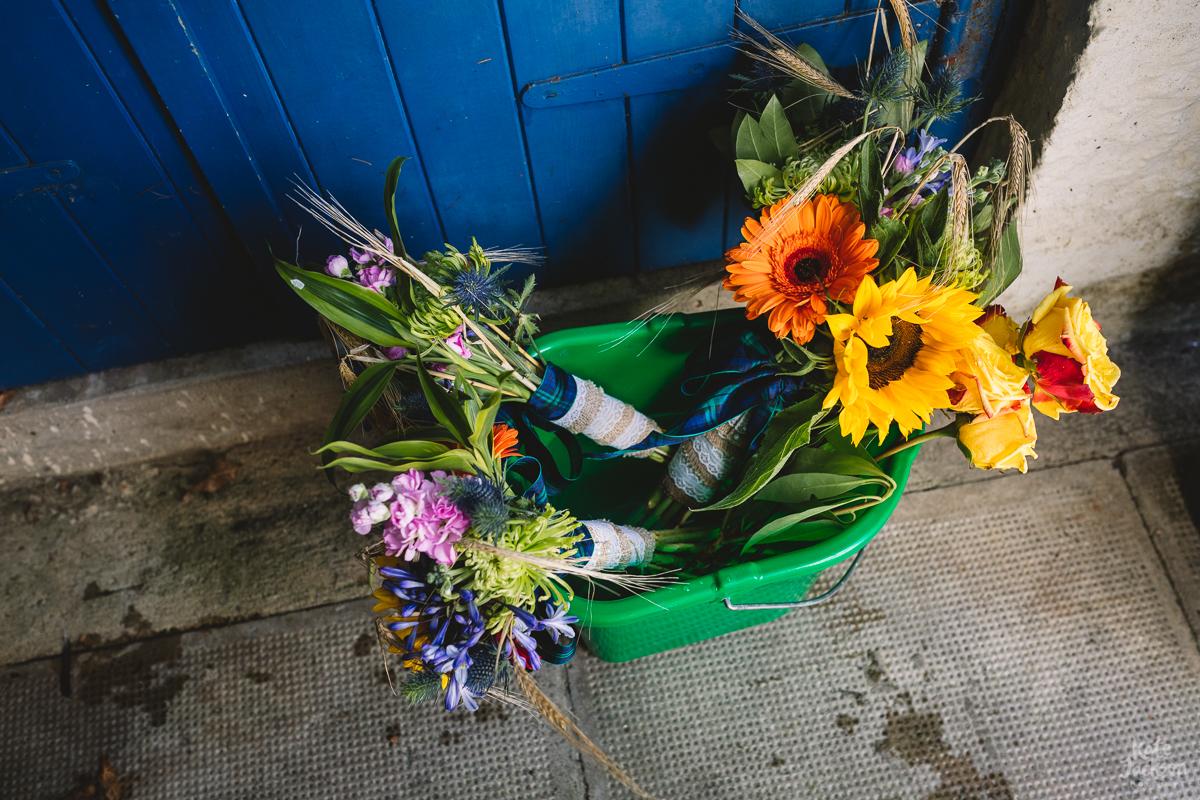 Fun and Colourful DIY Festival Summer Wedding Bouquet | Kate Jackson Photography