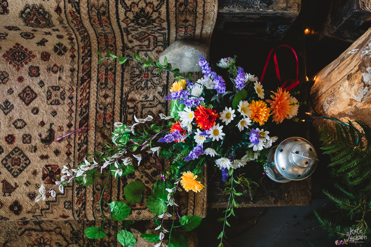 DIY Festival Wedding Decor at Knockengorroch, Quirky and Fun | Kate Jackson Photography