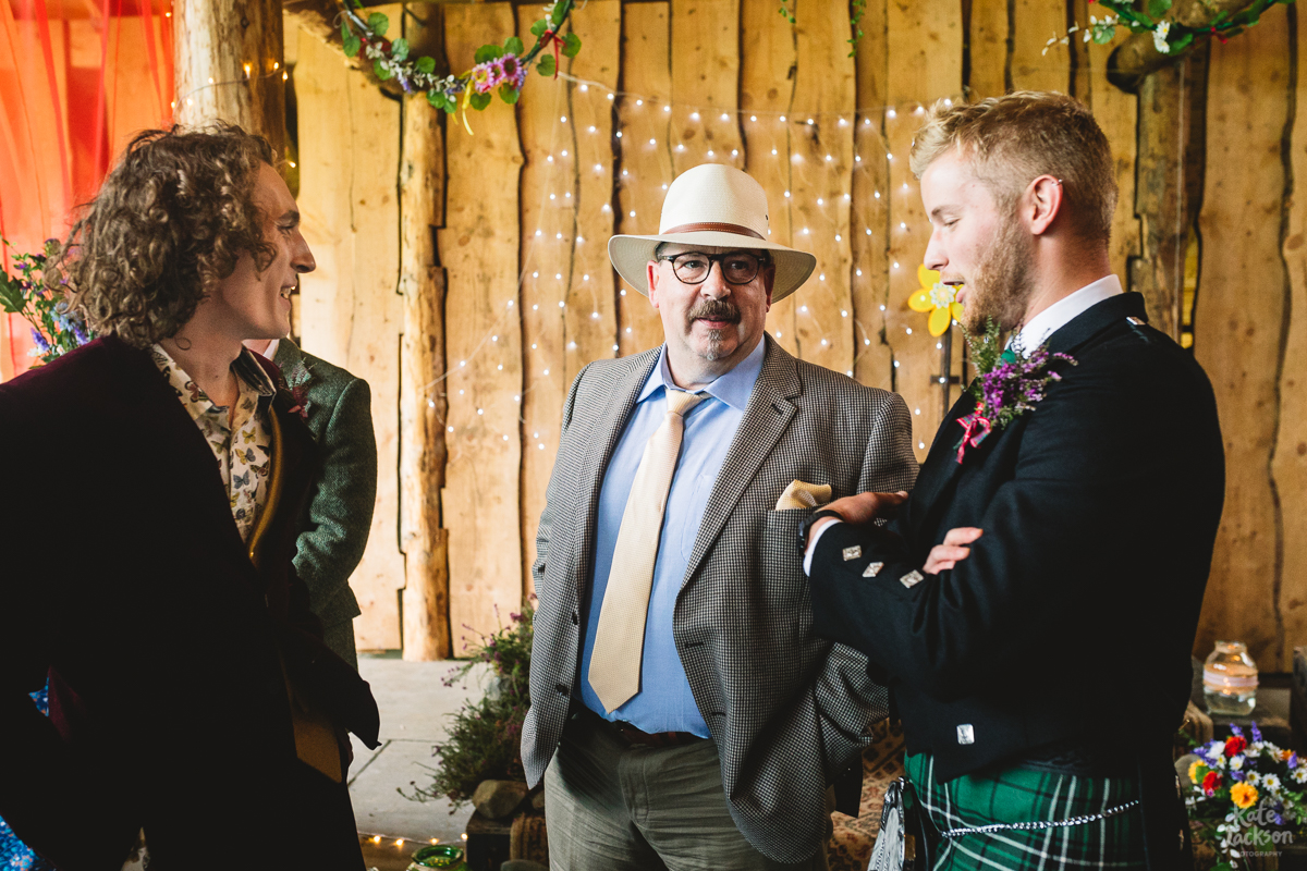 Pre Ceremony at DIY Festival Wedding in a Rustic Barn | Kate Jackson Photography