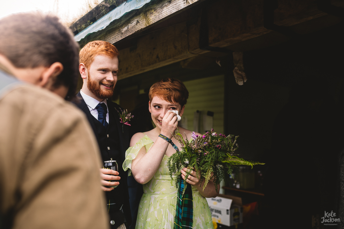 Bridesmaid at DIY Festival Wedding in Scotland | Kate Jackson Photography
