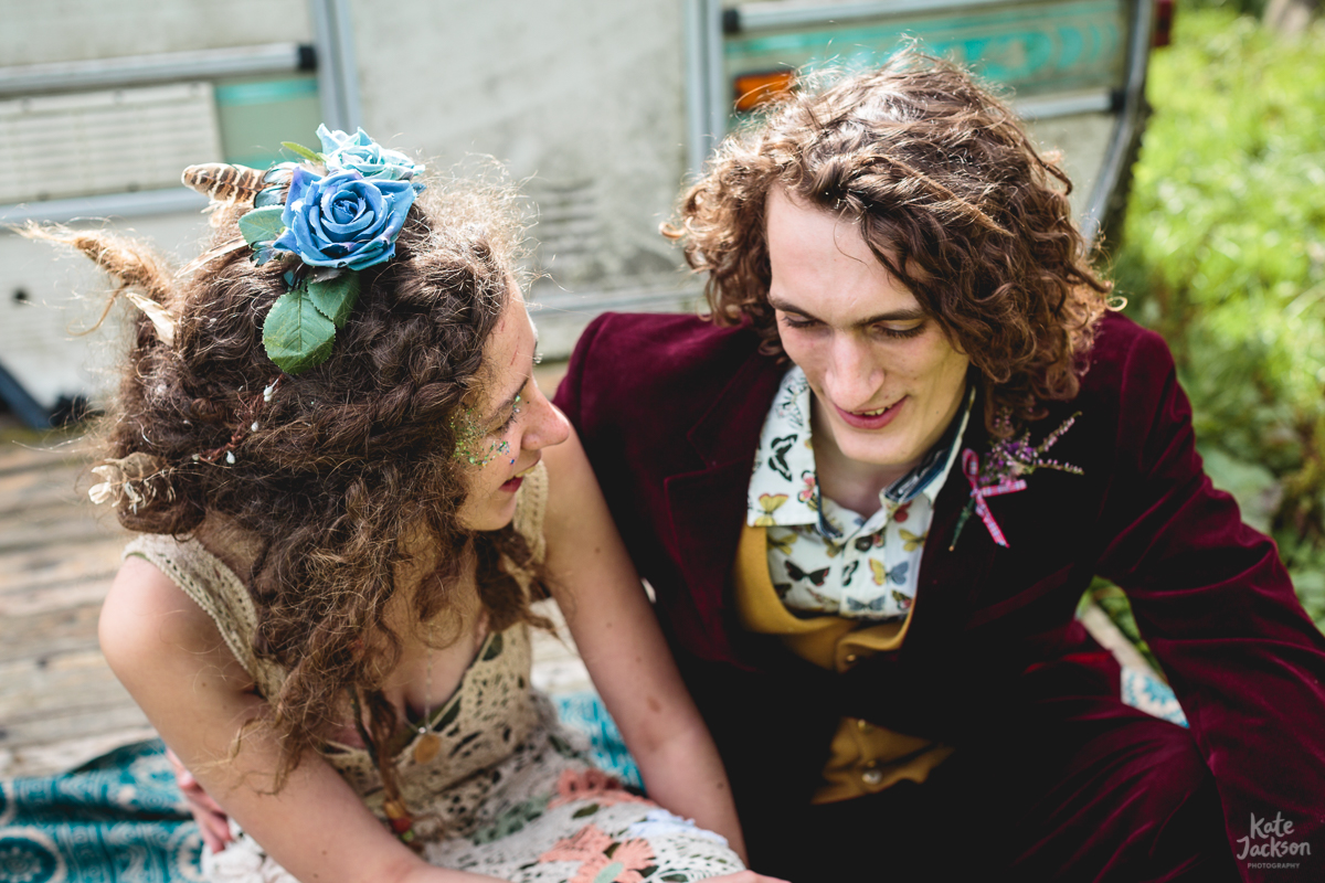 DIY Festival Wedding Alternative Attire Ideas | Kate Jackson Photography