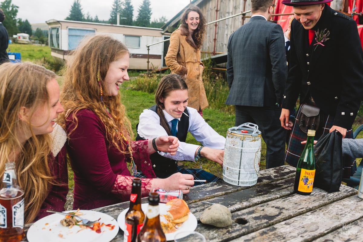 Bring your own booze DIY festival wedding in Scotland | Kate Jackson Photography