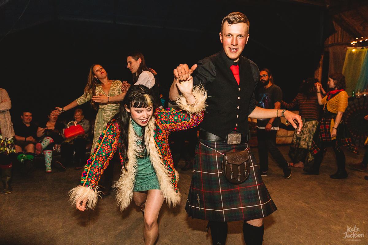 Fun DIY Festival Wedding Party at Knockengorroch | Kate Jackson Photography