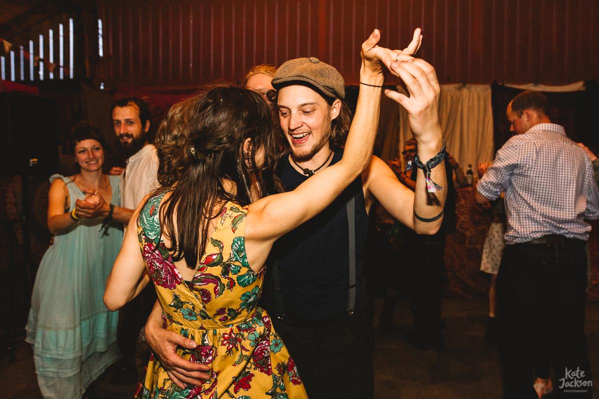 Super Fun Ceilidh Dance at Knockengorroch Wedding | Kate Jackson Photography