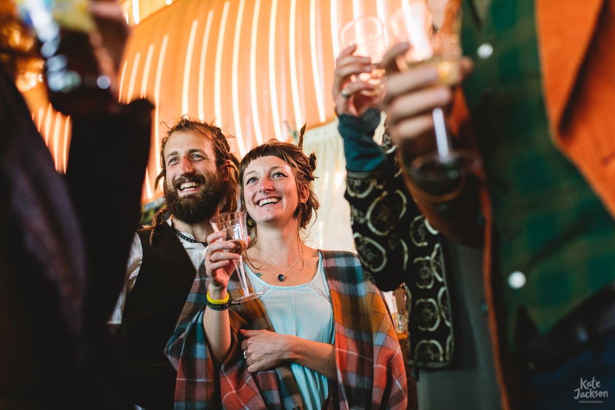 Fun wedding speeches at DIY Festival Wedding in Scotland | Kate Jackson Photography