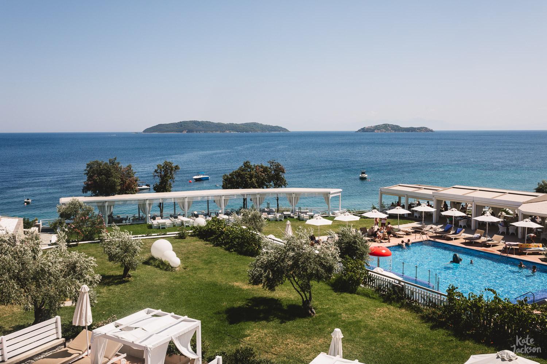Fun Relaxed Destination Wedding Photography at Kassandra Bay Resort in Skiathos, Greece