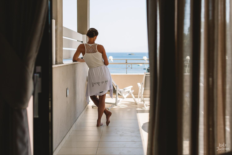 Brides Speech at Beach Destination Wedding at Kassandra Bay Resorts in Skiathos Greece | Kate Jackson Photography