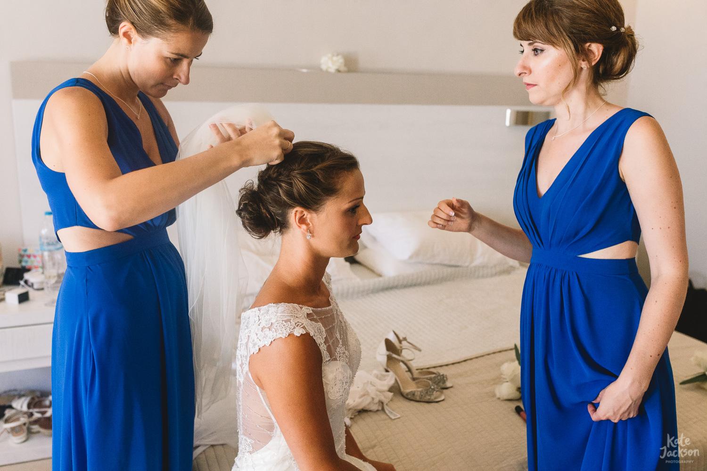 Maggie Sottero Wedding Dress at Beach Destination Wedding in Skiathos Greece - Kassandra Bay Resorts