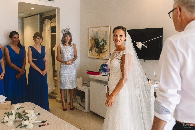 Fun Documentary Wedding Photography at Beach Wedding Greece