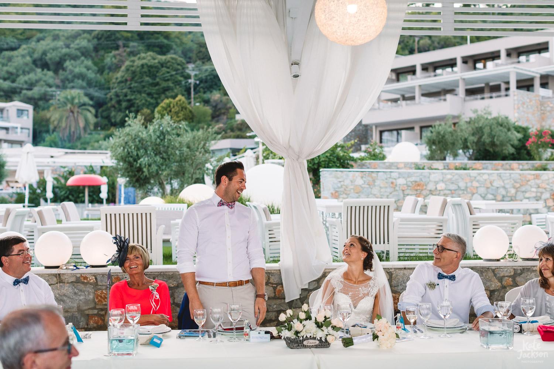 Touching Groom Speech at Kassandra Bay Resorts