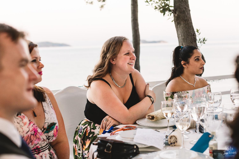 Destination Wedding Photography overlooking the sea in Skiathos