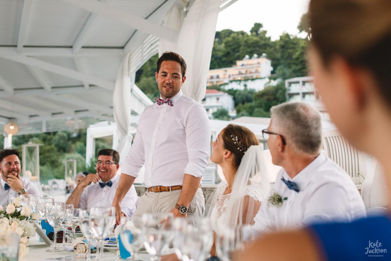 Grooms speech at Kassandra Bay Resorts