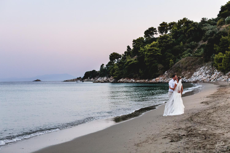 Relaxed Beach Wedding Photography at Kassandra Bay Resorts