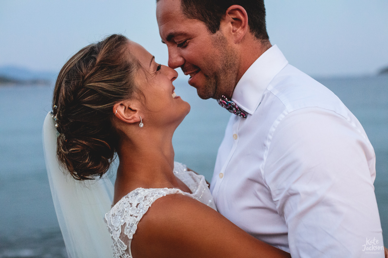 Relaxed Sunset Wedding Photography at Kassandra Bay Resorts