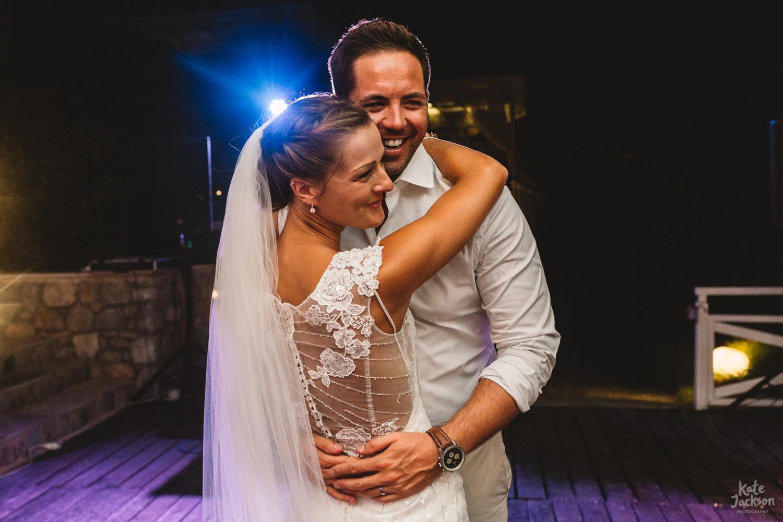 Bride and Groom First Dance at Kassandra Bay Resort Wedding Photography
