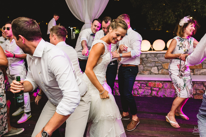 Fun bride and groom destination wedding photography