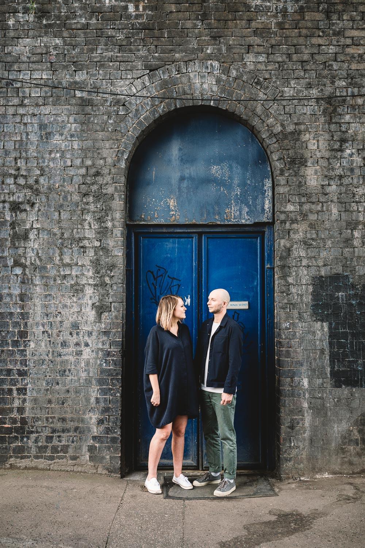 Alternative Urban Pre Wedding Photography at Fazeley Studios