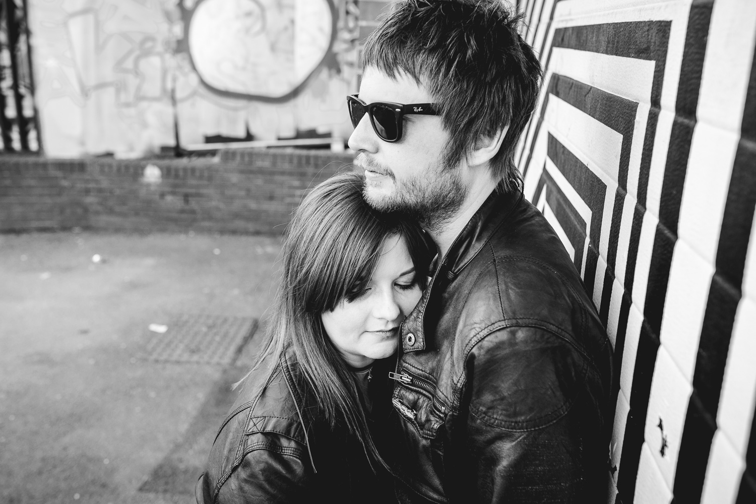 Rock and Roll Couple Photos in Digbeth in Birmingham