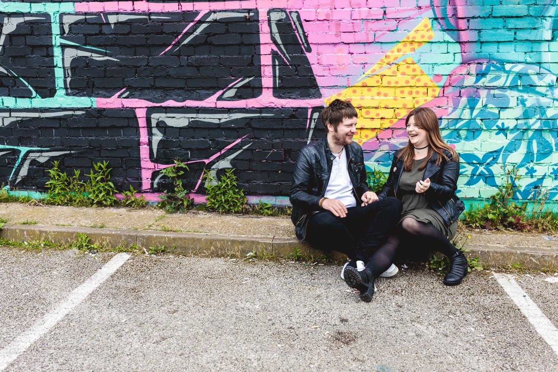 Cool and Urban informal Wedding Photographer Birmingham